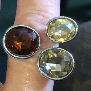 Sterling multi-gemstone ring